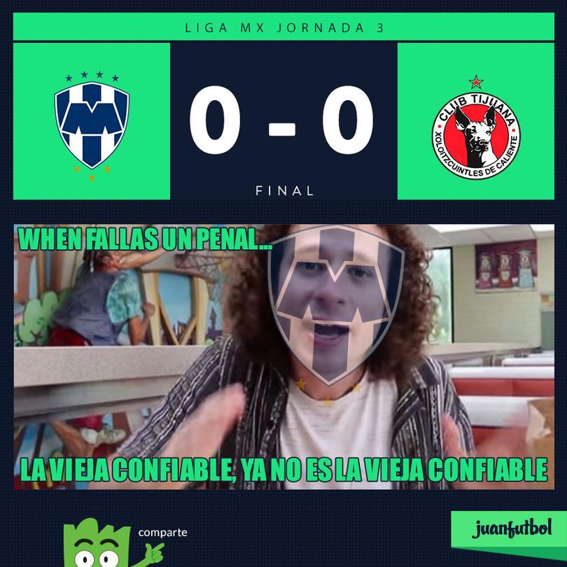Monterrey empató con Xolos