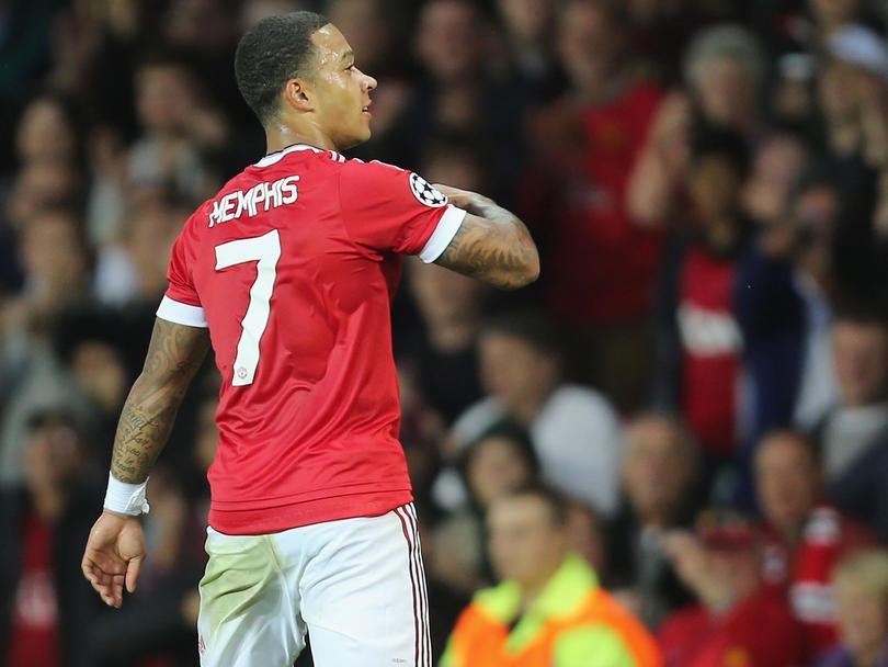 Dephay con el United en un partido