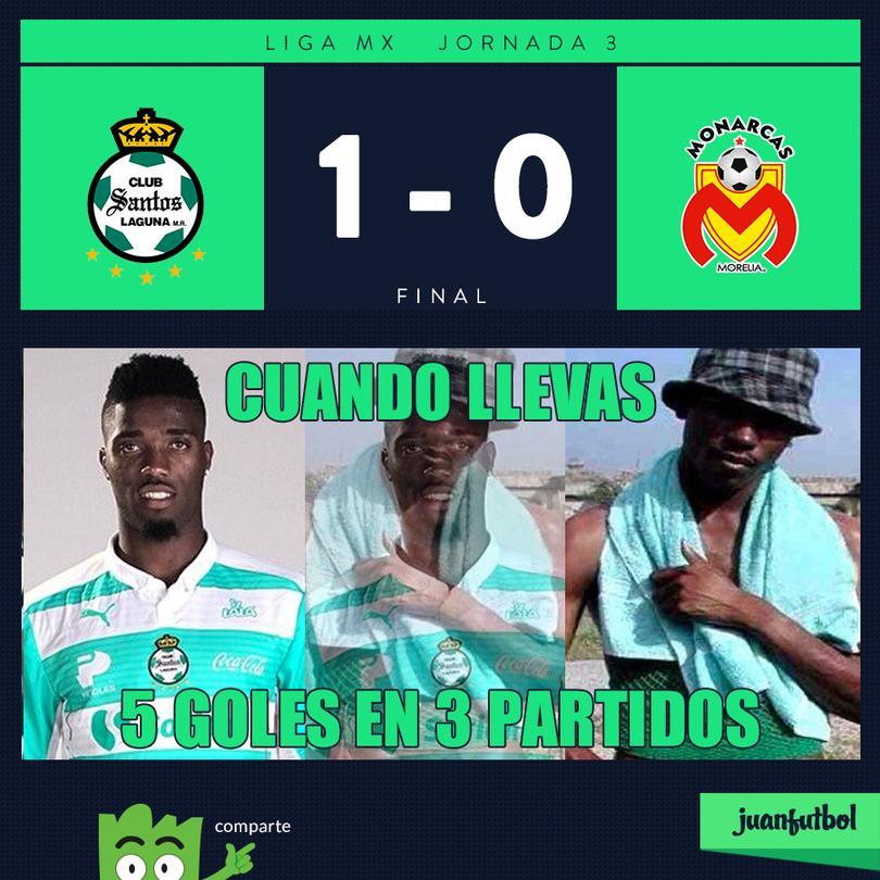Santos le ganó a Morelia