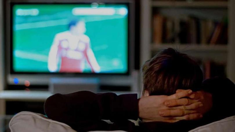 Viendo la tv