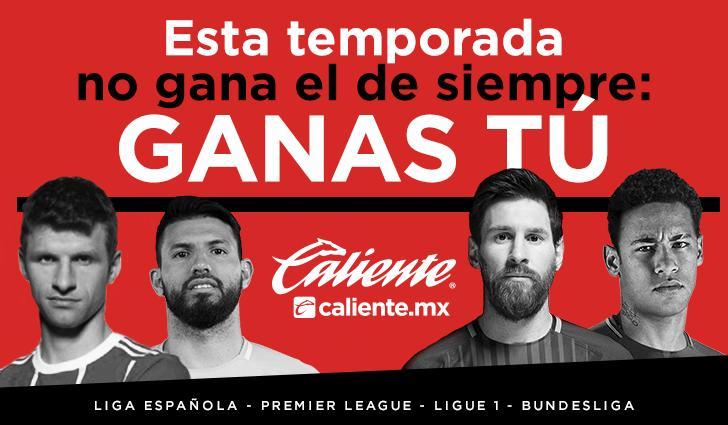 Caliente.mx pagará anticipadamente apuestas al título sobre estas 4 ligas
