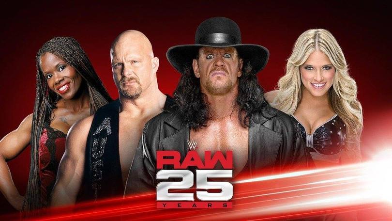 El poster del 25 aniversario de Raw