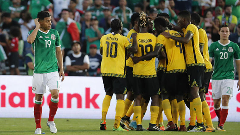 La seleccion de Jamaica eliminando a México en la Copa Oro