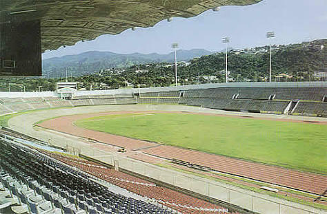 El estadio Kingston en Jamaica