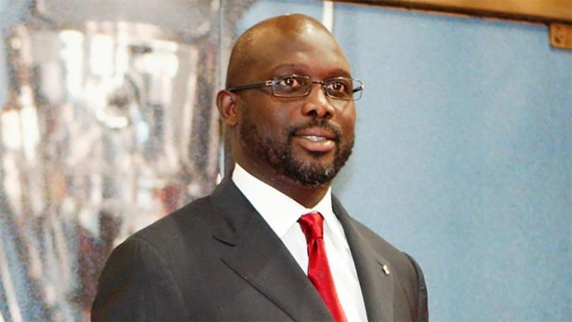 El actual presidente de Liberia