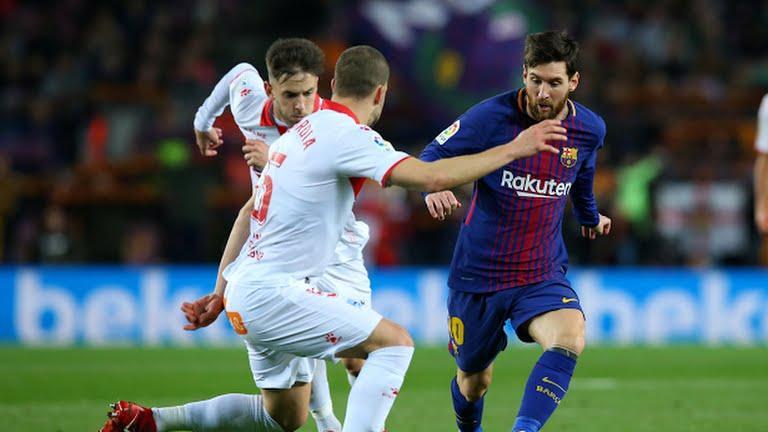 Messi durante el partido