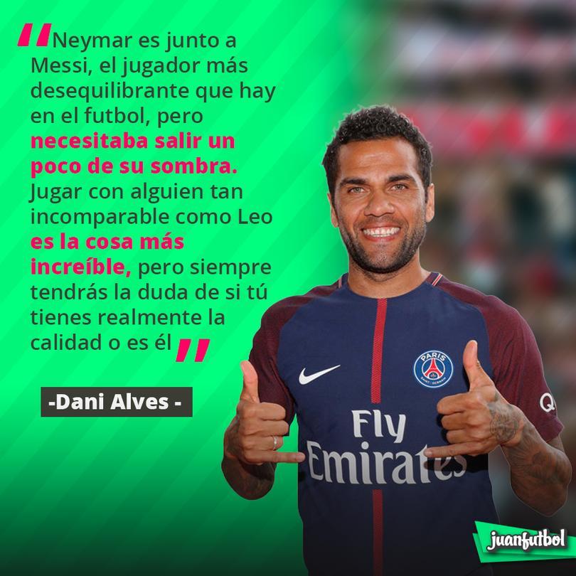 Dani Alves hablando sobre Neymar