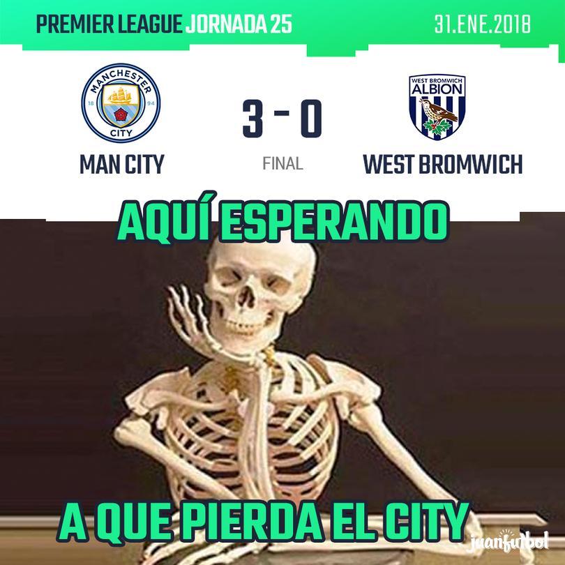 Crónica Man City vs West Bromwich en la EPL.