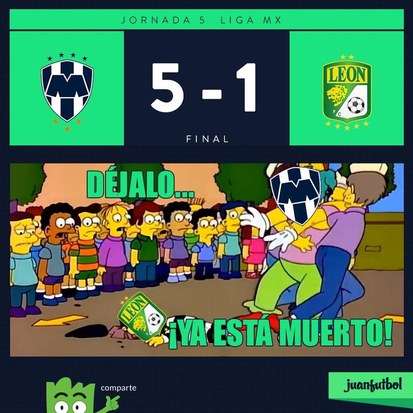 Monterrey 5-1 León