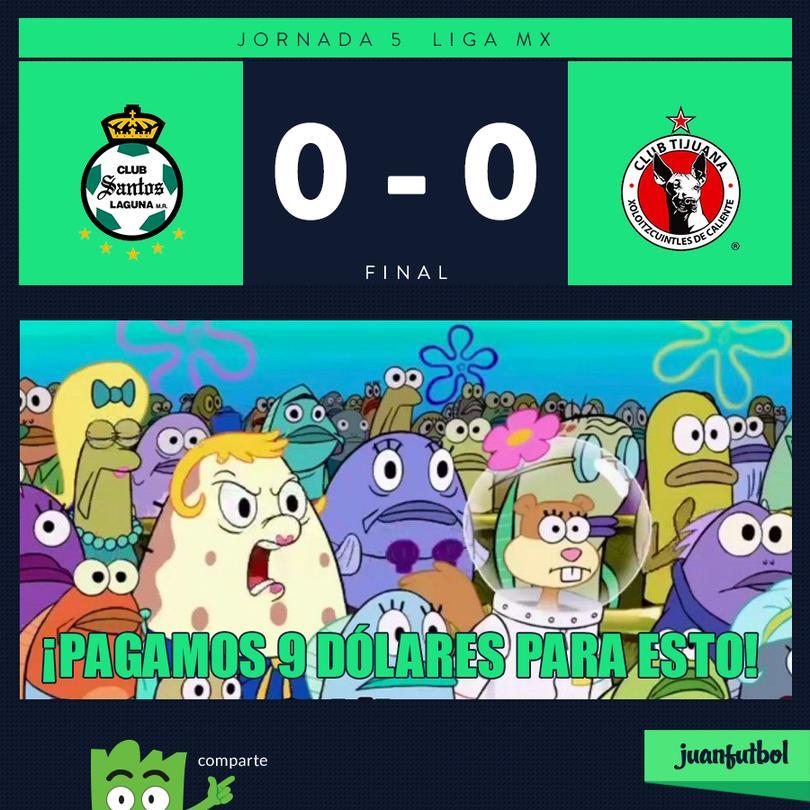 Santos 0-0 Xolos