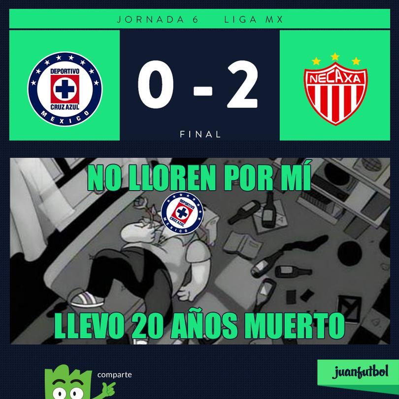 Cruz Azul pierde en casa contra Necaxa
