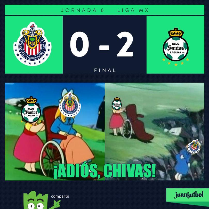 Chivas 0-2 Santos