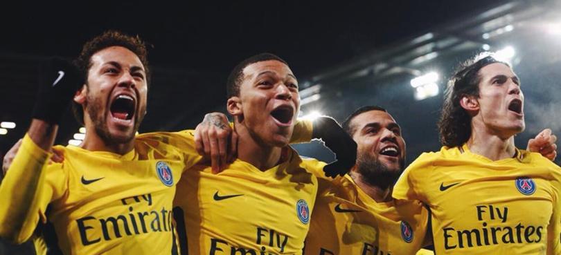 Neymar. Mbappe, Alves y Cavani