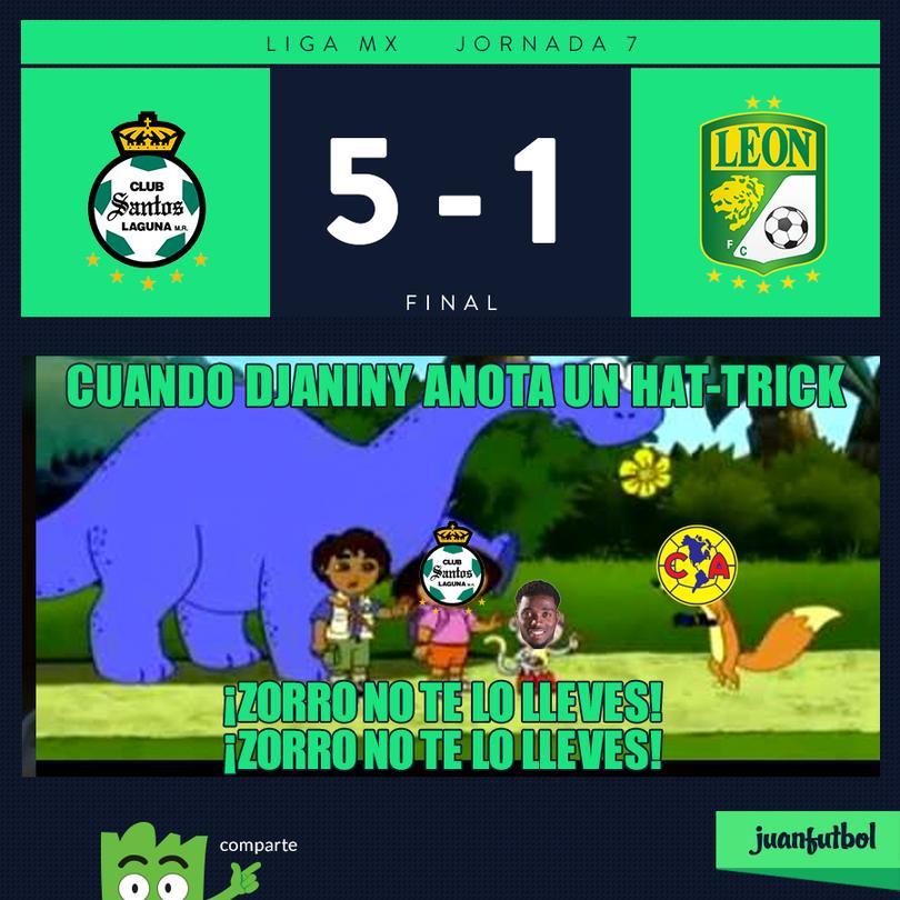 Santos 5-1 León