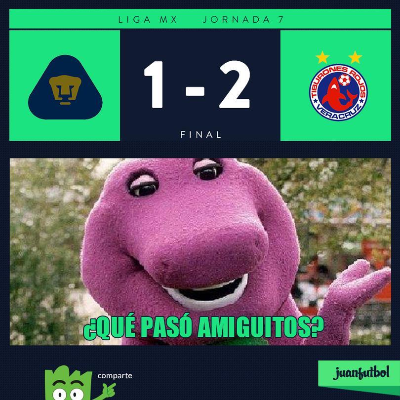 Pumas 1-2 Veracruz