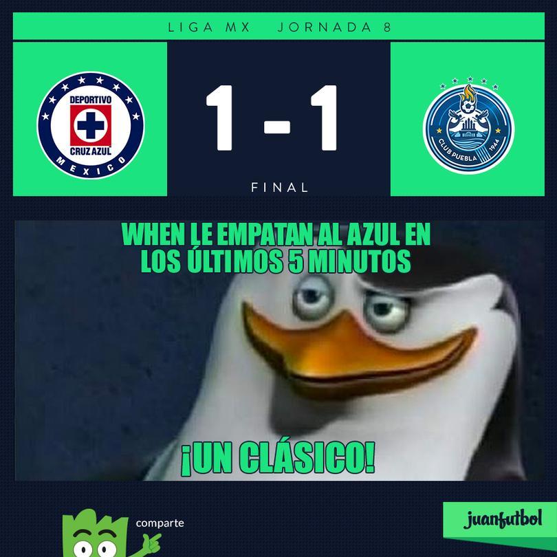 Cruz Azul 1-1 Puebla