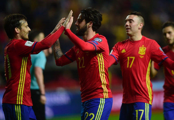 Festejo de la selección española