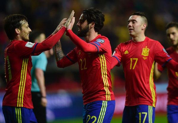 Festejo de la selección española