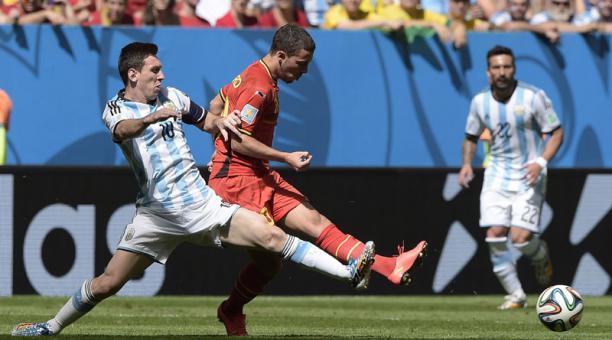 Messi y Hazard