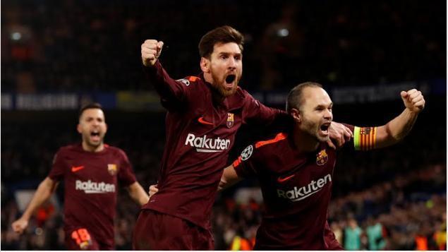 Messi empato el partido al minuto 75'