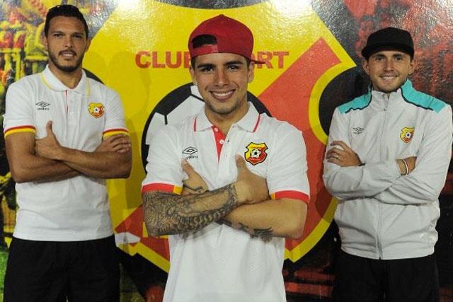 Landín, Marín y Arellano, jugadores mexicanos con Herediano