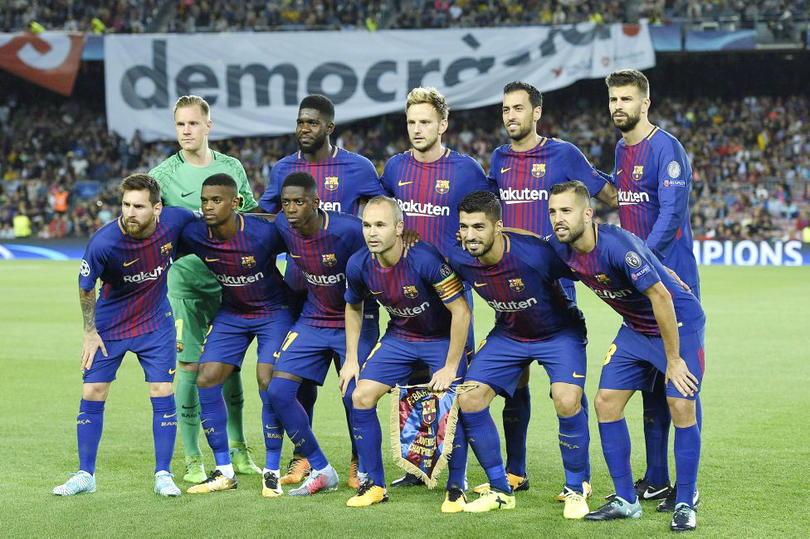 El inicial del Barcelona en Champions