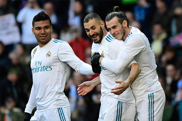 Casemiro, Benzema y Bale