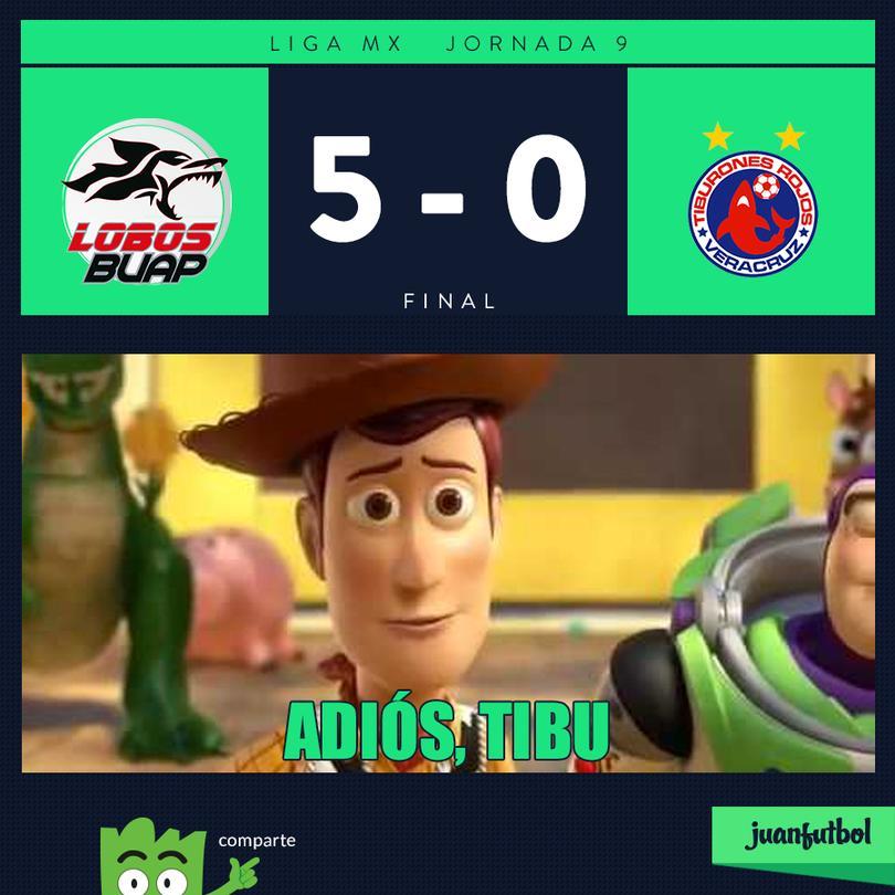 Lobos 5-0 Veracrruz