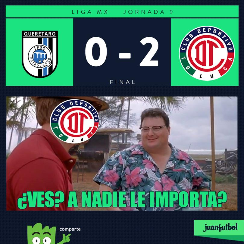 Querétaro 0-2 Toluca