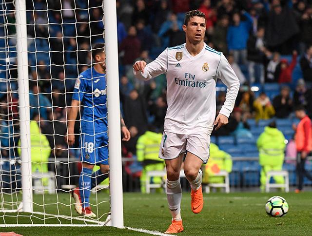 Cristiano Ronaldo celebra su gol