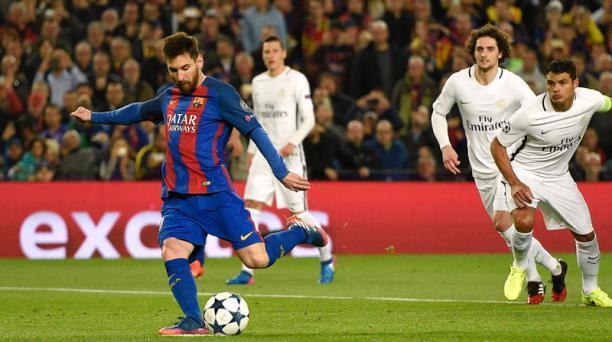 Messi cobrando un penal