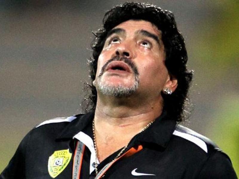 Maradona se lamenta