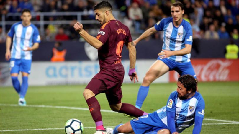 Luis Suarez hoy contra el Malaga