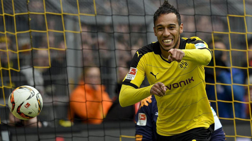 Aubameyang cuando militaba en el Borussia Dortmund