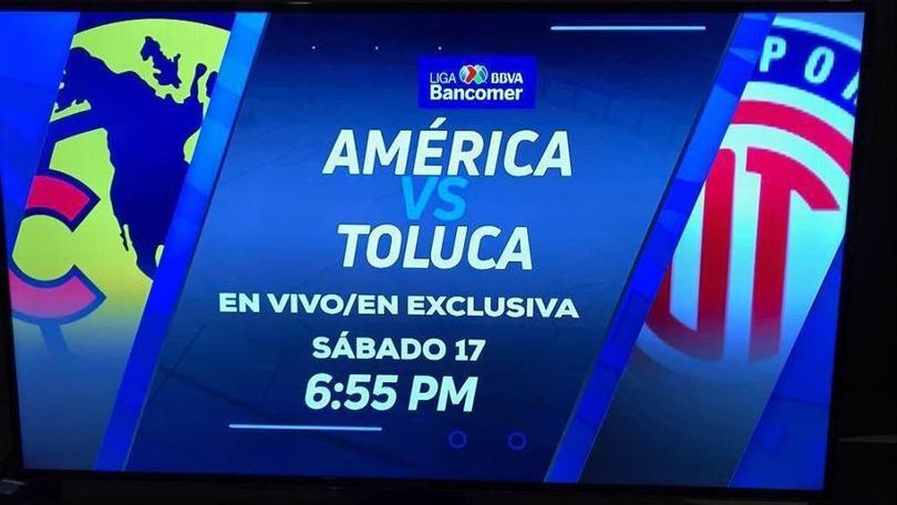 América cambia su horario estelar para el próximo juego contra el Toluca