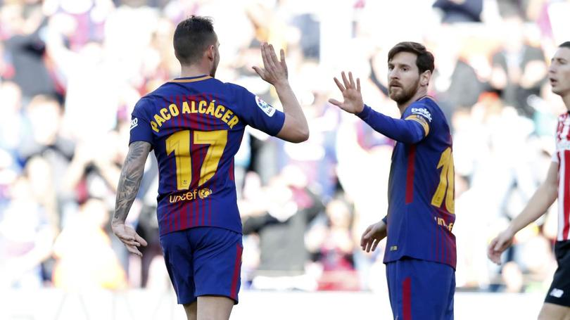 Messi y Alcácer