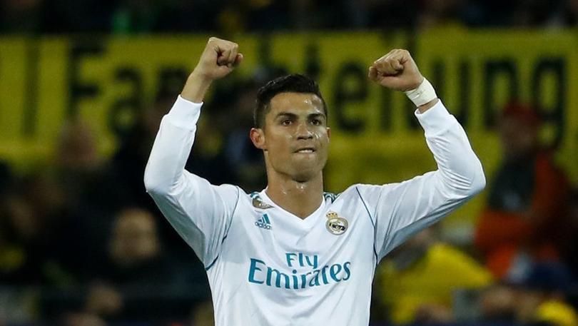 Ronaldo en un partido