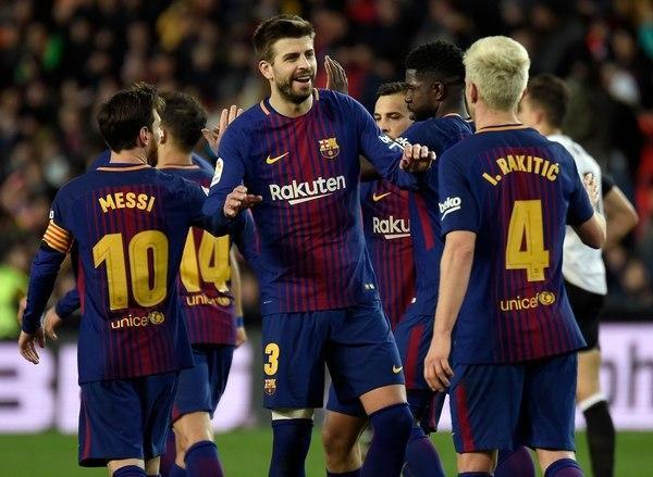 El Barça celebra.