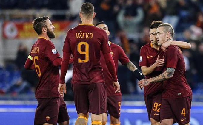 Los jugadores de la Roma