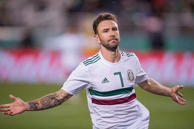 Layún celebra su gol ante Islandia