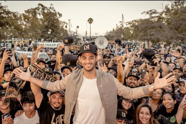 Carlos Vela en su presentación con Los Angeles FC