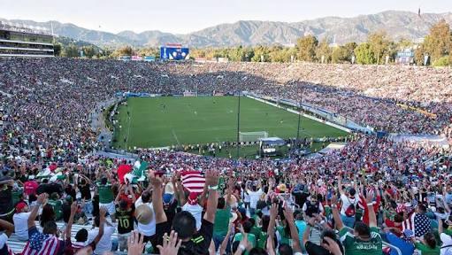Rose Bowl en un partido de México