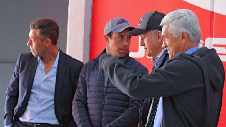 Cixinha, Osorio y Torrado en el estadio Nemesio Diez