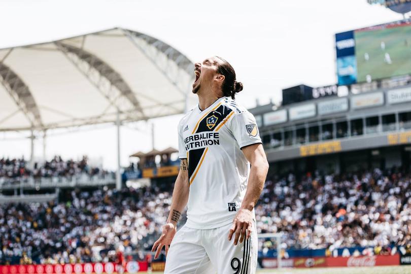 Zlatan fichó este año con Galaxy de Los Angeles.