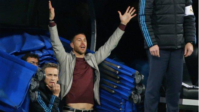 Ramos podría ser sancionado por estar al borde de campo y túnel de vestidor.