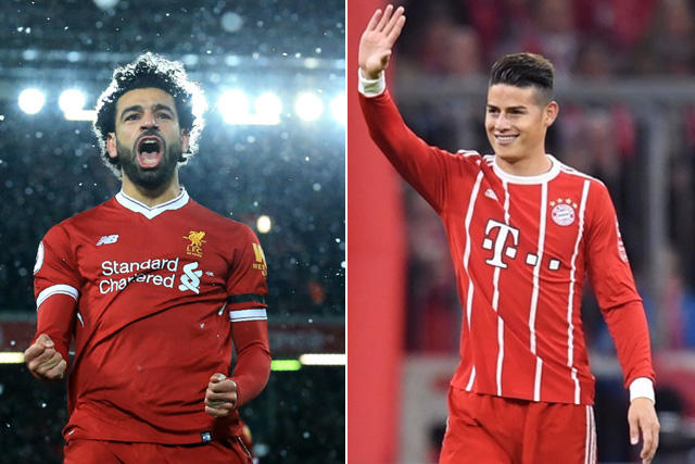 Mohamed Salah y James Rodríguez
