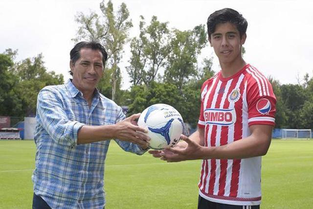 Benjamín Galindo y su hijo