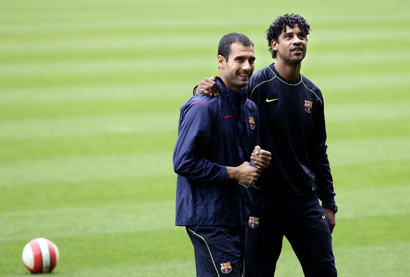 Guardiola y Rijkaard