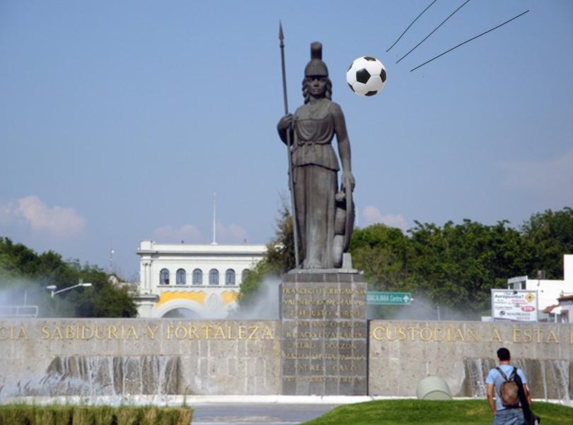 Casi tira el famoso monumento.