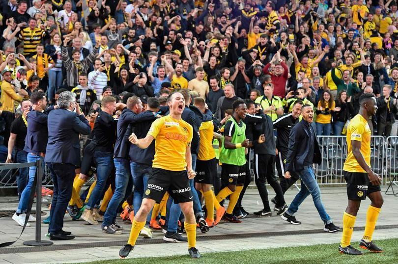 La celebración del gol del título